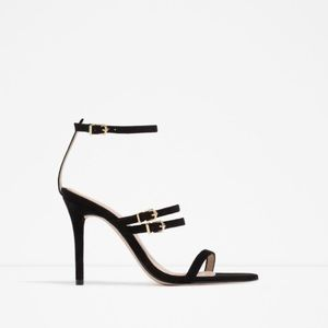 ZARA 100% LEATHER STRAPPY HIGH HEELS NEW & TAGS